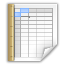 Spreadsheet, open document, Application, template, Oasis Icon