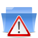 exclamation, warning, Alert, wrong, Error, Folder, important CornflowerBlue icon