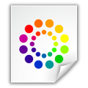 Colors, Kcsrc, document, File, Application, paper WhiteSmoke icon