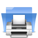 Folder, Print, printer LightSkyBlue icon