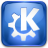 Kde, help, about CornflowerBlue icon