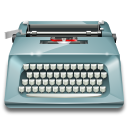 office, typewriter, Application DarkGray icon
