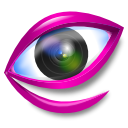 watch, Eye, gwenview, view MediumVioletRed icon