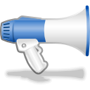 speaker, voice, advertizement, Promotion, blog, kblogger, megaphone, sound DarkSlateGray icon