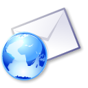 envelop, envelope, Email, mail, Letter, Message WhiteSmoke icon