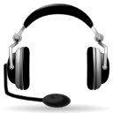 Headset, Audio, Headphone Black icon