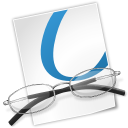 File, document, paper, Glasses, graphics, viewer WhiteSmoke icon
