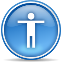 Configure, configuration, Setting, Desktop, config, preference, Accessibility, option SteelBlue icon