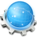 Konqueror, chrome DodgerBlue icon