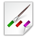 File, Application, Krita, document, Colors, paper WhiteSmoke icon