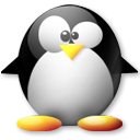 Penguin, tux Black icon
