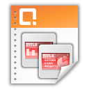 Presentation, Application, ppt, Ms, powerpoint Coral icon