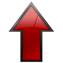 Arrow, Up, File, increase, Ascend, document, red, uplevel, stop, rise, no, Ascending, Text, upload, cancel, Close Black icon