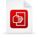 red, paper, File, document WhiteSmoke icon