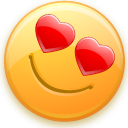 Face, Emoticon, love, smiley, Emotion, valentine DarkOrange icon