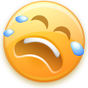 smiley, Face, Emoticon, Cry, Emotion Khaki icon