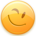 Emoticon, Face, smiley, wink, Emotion Khaki icon