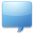 communicate, Comment, talk, Chat, speak, lumaqq CornflowerBlue icon