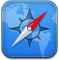 Browser, safari CornflowerBlue icon