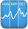 Stocks, chart, graph SteelBlue icon