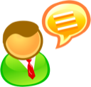 discus, talk, Comment, speak, Chat Black icon