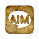 Logo, square, Aim Black icon