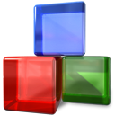 Blockdevice CornflowerBlue icon