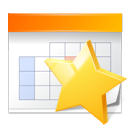 star, Favourite, Schedule, Calendar, bookmark, Appointment, marketing, date Gold icon