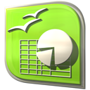calculation, Calc, calculator GreenYellow icon