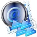 Email, mail, Message, Letter, replayall, envelop DarkSlateGray icon