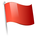 flag, red Black icon