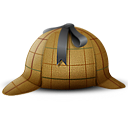 detective, Agent, hat SaddleBrown icon