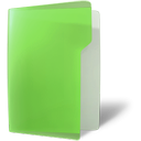 Folder, open, green YellowGreen icon