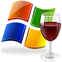 glass, window, wine Black icon