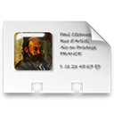 profile, Vcard, business card WhiteSmoke icon