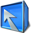 Box, Arrow, compiz DodgerBlue icon