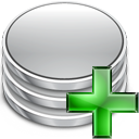 plus, Add, Database, db Silver icon