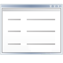 File, list, view, Text, document, listing Snow icon