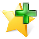 star, plus, Favourite, Add, bookmark Black icon