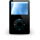 Apple, ipod, Black, unmount Black icon