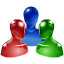 group, jabber DarkBlue icon