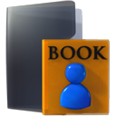 bookmark, Folder, education DarkSlateGray icon