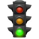 Traffic light, Daemon DarkSlateGray icon