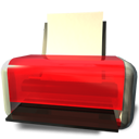 printer, Print, unavailable Firebrick icon