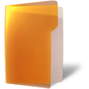 Folder, Orange, open Chocolate icon