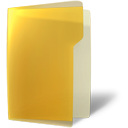 open, Folder, yellow Goldenrod icon