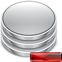 remove, delete, Database, db, Del Silver icon