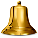 bell, Alarm, ringtone SaddleBrown icon