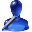 Human, user, writing, write, Account, people, profile, Edit, marker MidnightBlue icon