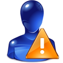 profile, Attention, user, exclamation, people, warning, unknown, metacontact, Alert, Human, Error, Account, wrong MidnightBlue icon